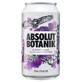 Absolut Botanik Berry Lime 375mL Can 24 pack