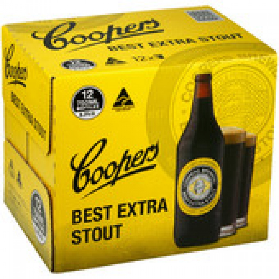 Coopers Best Extra Stout 750mL Bottles 12 pack