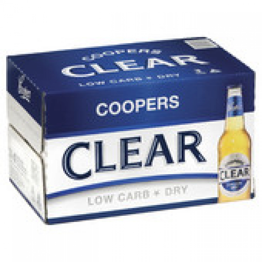 Coopers Clear 355mL Bottle 24 pack