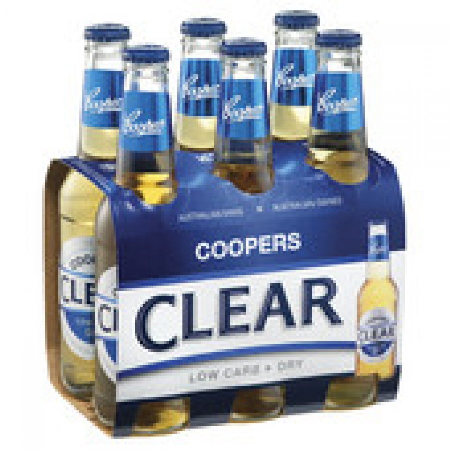 Coopers Clear 355mL Bottle 6 pack