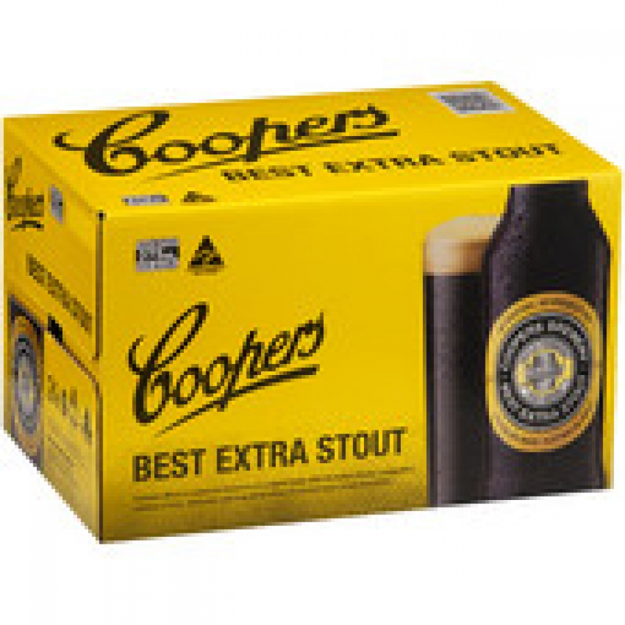 Coopers Extra Stout Bottle 375mL 24 pack