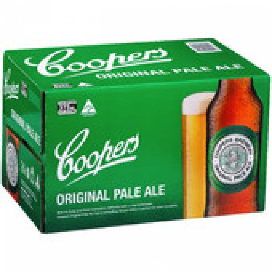Coopers Pale Ale Bottle 375mL 24 pack
