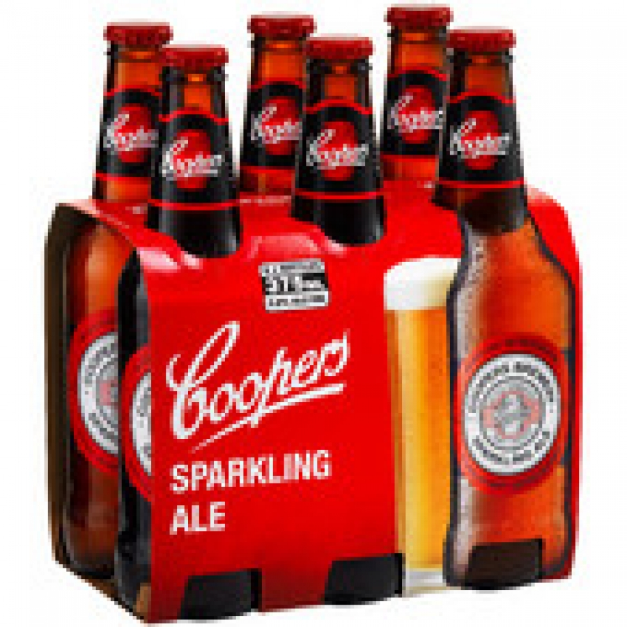 Coopers Sparkling Ale 375mL Bottles 6 pack