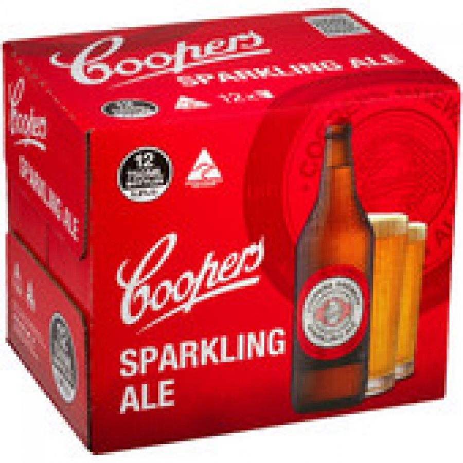 Coopers Sparkling Ale 750mL Bottles 12 pack
