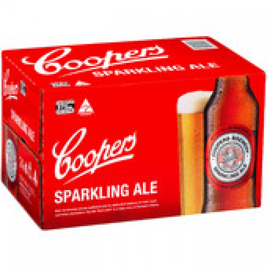 Coopers Sparkling Ale Bottle 375mL 24 pack