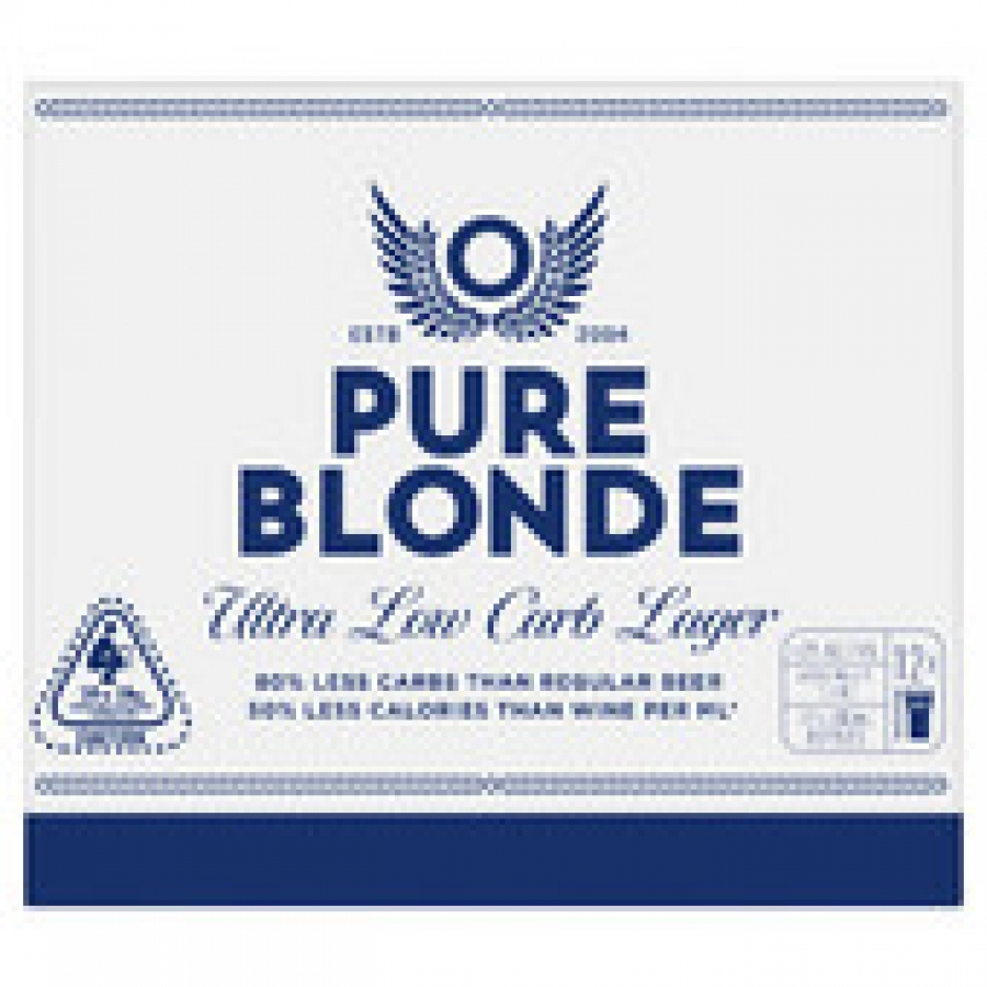 Pure Blonde 700mL Bottle 12 pack